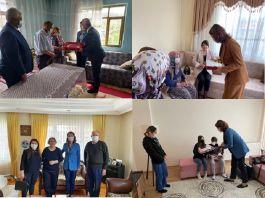 Vali ve Eşi'nden Şehit ailelerine ziyaretler