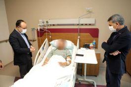 Valiler yaralı Askerleri Hastanede ziyaret etti