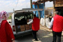 Vefa Grubu 7 Şehit ailesi ve gaziyi ziyaret ederek gıda yardımında bulundu