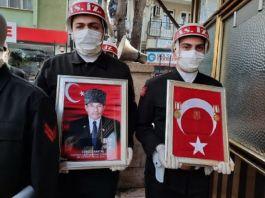 Vefat eden Kıbrıs Gazisi Askeri törenle uğurlandı