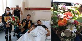 Yaralı Askerlere 112 Sağlık ekibinden ziyaret
