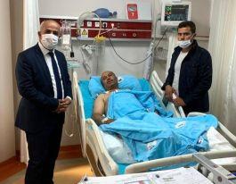 Yaralı Korucuya Belediye Başkanından ziyaret