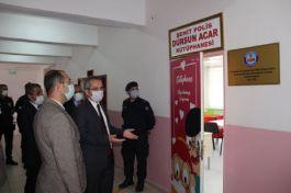 Yeni açılan Kütüphane ye Şehit Polisin adı verildi