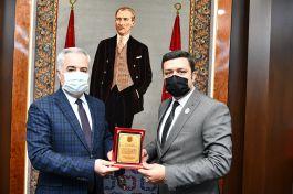 Yeni Şehit ve Gazi Dernek Başkanı Valiyi ziyaret etti